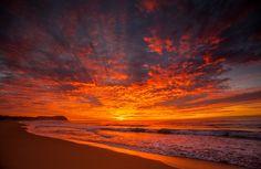 beach fire by jbrum