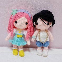 Cynthia  Bobby 몆안대는 남자인형ㅋ 것도 썩맘에안들지만 ㅜㅜ 언젠가 다시 시도해보겠으!! . .  #crochet#amigurumi#뜨개질#cotton#by_me#knitting#kawaii#crochetaddict#wool#craft#yarn#iloveit#코바늘#handcraft#pattern#madebyme#바비#adorable#custom#취미#crochetdoll#코바늘인형#ikon#인형#핸드메이드#bobby#cynthia