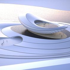 The ARC- River Culture Multimedia Theater Pavilion by asymptote