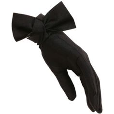 Black Bow Cocktail Gloves ($61) ❤ liked on Polyvore