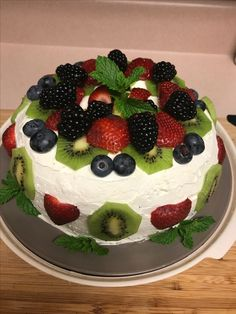 Another version of my fruity Angel food cake