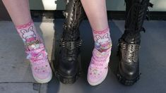 My two moods (I want both shoes so bad!) The people in the pic are and Daddy Aesthetic, Goth Aesthetic, Couple Aesthetic, Mode Harajuku, Retro, Babydoll, Indie, Cybergoth, Creepy Cute