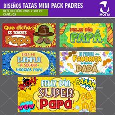 PLANTILLAS PARA SUBLIMAR TAZAS DÍA DEL PADRE #cincoXuno Mug Papa, Snack Recipes, Snacks, Pop Tarts, Fathers Day, Stickers, Mugs, Presents, Clothing
