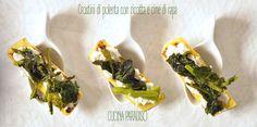 Crostini di polenta con ricotta e cime di rapa #cucinaparadiso #polenta #avanzi #cimedirapa #ricotta #nordsud