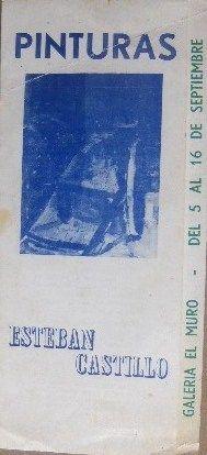 Esteban Castillo. Exposición Galería El Muro . Caracas 1960