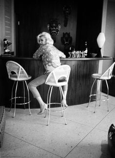 Marilyn at Tim Leimert's house during a photo shoot with George Barris, June-July 1962.