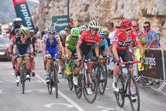 The final climb of stage 9 of the Vuelta a España