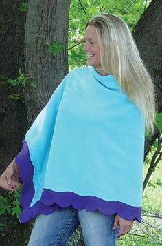 June Tailor- Creativity Center - Project Sheets - Fleece Projects - Fancy Fleece Double Edge Poncho