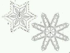 Galeria rozmaitości: Wzory szydełkowe-Boże Narodzenie Crochet Diagram, Crochet Motif, Crochet Doilies, Crochet Flowers, Crochet Stitches, Crochet Patterns, Knit Crochet, Crochet Christmas Ornaments, Holiday Crochet