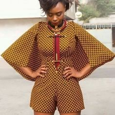Tribal short jumpsuit cape outfit... My fav design