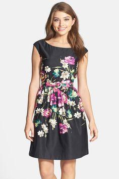 Eliza J | Print Fit & Flare Dress (Regular & Petite)