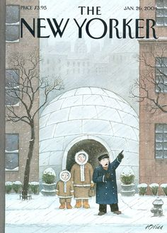 """The New Yorker - Monday, January 26, 2004 - Issue # 4061 - Vol. 79 - N° 44 - Cover """"Mush!"""" by Harry Bliss"""