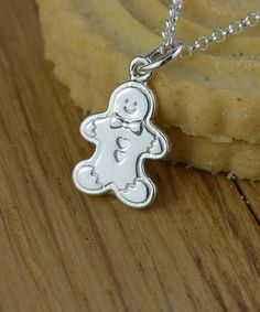 Look what I found on #zulily! Sterling Silver Gingerbread Man Pendant Necklace #zulilyfinds