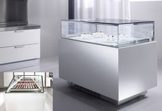 custom pastry case refrigerated