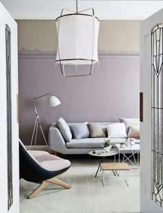 Interior paint colour trends 2016 are reflecting a soft subtle palette inspired by nature according to Dulux Interior Paint Colors, Gray Interior, Interior Design, Classic Interior, Illinois, Trending Paint Colors, Modern Couch, Modern Living, Color Tile