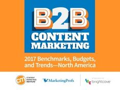 B2B Content Marketing Takes a Turn for the Better: New 2017 Research via Content Marketing Ann Handley