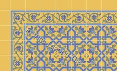 Fancy Victorian Floor Tile--happy girly-patterns and colors