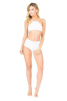 Lolli Swim Dainty Bottom in Vanilla - As you know high waisted bikini bottoms are this seasons biggest trend and we want to keep you right in the loop with what to wear. This Lolli Dainty Bottom in Vanilla can be easily paired with any top you'd so you'll have no worries on that end. The designer bottom has a dainty white eyelet trimming along the front with a cheeky backside. It's fun, flirty, and everything you need in your life right now. #lolliswim #white #vintage #highwaisted