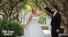 Such a happy bride! N + M ~ Cairns ~ White Avenue Photography