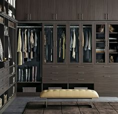 Divine walking closet designs you need to have. Thirty walking closet ideas for the perfect fashion wardrobe. Feed your design ideas now. Walk In Closet Design, Bedroom Closet Design, Master Bedroom Closet, Closet Designs, Bedroom Closets, Master Bedrooms, Closet Walk-in, Closet Ideas, Black Closet