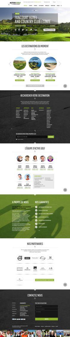 Active Golf Website on Behance