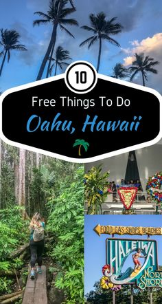 10 FREE THINGS TO DO ON OAHU HAWAII Visiting Hawaii isn't cheap, especially if you've traveled for hours on end. We decided to help the endured traveler with some great things you can visit/do on Oahu that's simply … Oahu Hawaii, Kauai, Hawaii 2017, Visit Hawaii, Hawaii Honeymoon, Hawaii Travel, Travel Usa, Honeymoon Ideas, Travel Tips