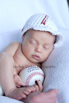 Baby Boy crochet Baseball hat beanie by YourSpoiledBaby on Etsy, $12.00