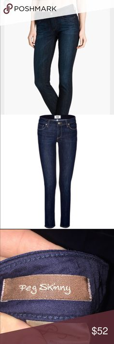 Paige peg skinny navy blue jeans Dark and stretchy Paige premium denim jeans. More pictures to come tonight!! Paige Jeans Jeans