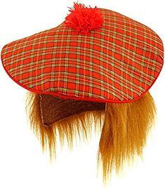 Scottish Hat - Tam O Shanter with Hair: Amazon.co.uk: Toys & Games