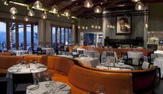 Pierre Cronje designed custom furniture including this orange banquette for Delaire Graff. House Restaurant, Restaurant Design, Restaurant Ideas, Custom Furniture, Furniture Design, African Holidays, Hotel Interiors, Luxury Accommodation, Luxury Interior Design
