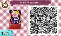SAILOR MOON FACE CUT OUT. ANIMAL CROSSING NEW LEAF. QR CODE. ACNL