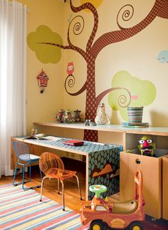 Cute idea for a playroom. Home Daycare, Kids Decor, Home Decor, Kids Corner, Kid Spaces, Kid Beds, Interiores Design, Kids Furniture, Kids Bedroom