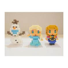 #FROZEN ⛄❄💛 #nanoblock #OLAF & #ELSA & #ANNA ⌒(。・.・。)⌒ #ナノブロック #ディズニーナノブロック#ナノブロックディズニー #アナと雪の女王 #アナ雪 #エルサ #アナ #オラフ #ディズニー