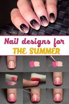 Nail designs for the summer ==