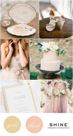 Gold and Blush Wedding Inspiration from Shine Wedding Invitations