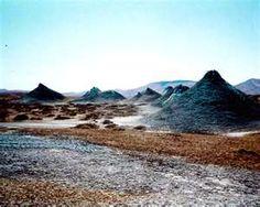 Azerbaijan - mud volcanoes dot the landscape