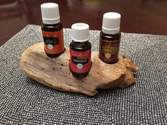 Display your 15ml and 5ml essential oil bottles in a one of a kind, handcrafted display rather than hiding those beneficial bottles away out of sight. Each piece of driftwood is hand chosen for its natural beauty and individuality. It is then hand carved, minimally finished and sealed to