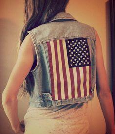 Trash To Couture: Star-Spangled Banner Vest. DIY
