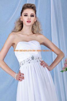 Schlichtes Brautkleid für Schwangeren aus Chiffon Kolumne