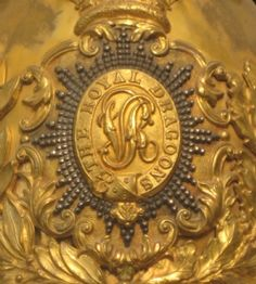 Detail of 1847 Royal Dragoon helmet plate- a fine example of the jeweler's artwork !