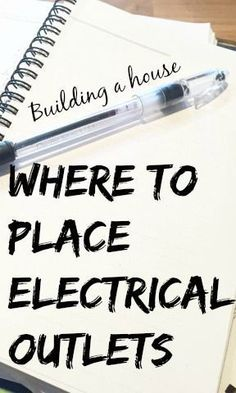 Best DIY Projects: When building a home, there are so many tiny decisions to make - like where to put electrical outlets. This post includes tons of practical tips for placing outlets (including for decor, Christmas lights, and appliances). House Ideas, Cabin Ideas, Cool Diy Projects, Home Projects, Project Ideas, Home Renovation, Home Remodeling, Home Building Tips, House Building