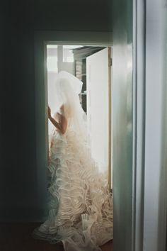Coco Anais #ruffled gown - Hot Metal Studio http://ruffledblog.com/whimsical-pittsburgh-opera-wedding/