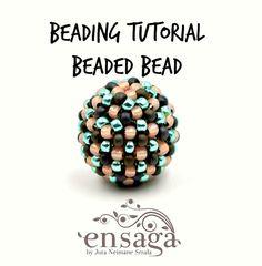 Beaded Bead Tutorial Beaded Bead Pattern DIY earrings by ensaga
