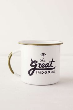 the perfect 'camping' mug for the girl who'd rather be inside (me).