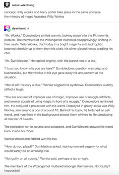 Why has no one thought of a Harry Potter/Willy Wonka mashup until now? #Tumblr #Story #HarryPotter #WillyWonka #Entertainment