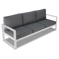 Baltic Sofa - White - Real Flame