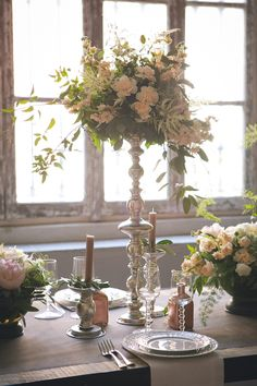 industrial chic wedding table