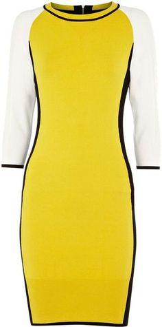 KAREN MILLEN ENGLAND Zippy Texture Knit Dress - Lyst