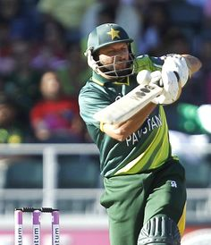 Pakistan's Shahid Afridi plays another shot during his blistering innings of 88. PHOTO: REUTERS