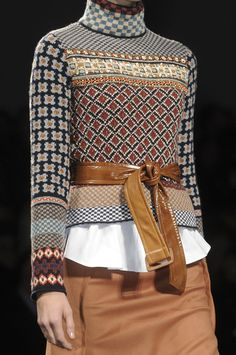 Sportmax Fall 2011. Maybe stitch a bunch of funky sweaters together?